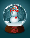 Merry christmas snow globe Royalty Free Stock Photo