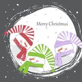 Merry christmas the snowball a snow falls cheerful Royalty Free Stock Photography