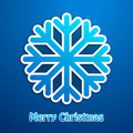 Merry christmas snowflake blue poster on background Stock Photos