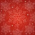 Merry christmas snowflakes seamless pattern backgr decoration red background vector file organized in layers for easy editing Stock Photo