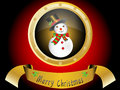 Merry Christmas snowman Royalty Free Stock Images
