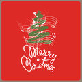 Merry christmas song Stock Images