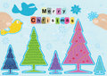 Merry Christmas Starting Decor_eps Royalty Free Stock Image