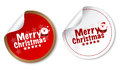 Merry Christmas stickers Royalty Free Stock Images