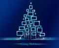 Merry Christmas techno Royalty Free Stock Photo
