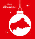 Merry Christmas theme with map of Central African R Royalty Free Stock Photo