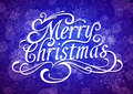 Merry christmas vector calligraphic lettering Stock Photo