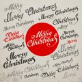 Merry Christmas Vector Calligraphic Lettering Royalty Free Stock Photo