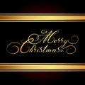 Merry christmas vector card hand drawn alphabet Stock Photography