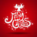 Merry christmas vector greeting card Royalty Free Stock Images