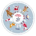 Merry Christmas vector planet Royalty Free Stock Photo