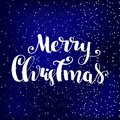 Merry Christmas vector text Calligraphic Lettering design card template.Creative typography for Holiday Greeting Gift Poster. Call Royalty Free Stock Photo