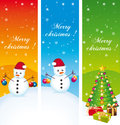 Merry christmas vertical banners greeting Stock Image