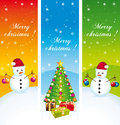 Merry christmas vertical banners set ii greeting Royalty Free Stock Image