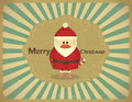 Merry Christmas Vintage card with Santa Claus Stock Photos