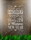 Merry christmas vintage typo background retro for your greetings or invitation covers Stock Images