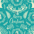 Merry christmas white trees background and blue Stock Images