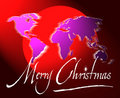 Merry christmas world map or globe