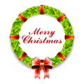 Merry Christmas Wreath Royalty Free Stock Photos