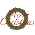 Merry christmas wreath isolated decoration Stock Photography