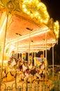 Merry-go-round at fairground Royalty Free Stock Photo