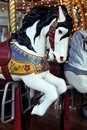 Merry-go-round horse Stock Photos