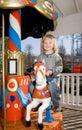 Merry-go-round horse carousel Royalty Free Stock Photo