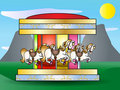 Merry go round illustration Royalty Free Stock Photo