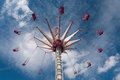 Merry go round ride scenic view of a high at a funfair Royalty Free Stock Photography