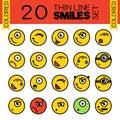 20 Merry smiles. A set of conceptual smiles.