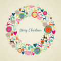 Merry Vintage Christmas Elemen...