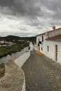Mertola old street from village in alentejo portugal Stock Image