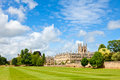 Merton college in oxford with chapel university england Royalty Free Stock Images