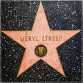 Meryl Streeps star on Hollywood Walk of Fame Royalty Free Stock Photo