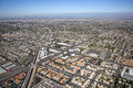Mesa arizona from above with a view to the northwest along the consolidated canal Royalty Free Stock Image