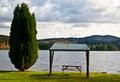 Mesa de picnic Fotografía de archivo libre de regalías