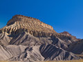 Mesa rising above the desert book cliffs near grand junction in western colorado Royalty Free Stock Image