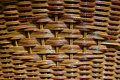Mesh of branches hand woven basket from a tree branch known as weeping willow detail Stock Photos