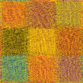 Meshy colorful square seamless patter in yellow green orange violet colors Royalty Free Stock Images