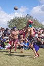 Mesoamerican ballgame performed in central america maya civilization Royalty Free Stock Photography