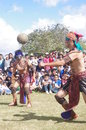 Mesoamerican ballgame performed in central america maya civilization Stock Images