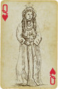 Mesopotamian beauty playing card with the drawn figure princess or simply from the middle east description drawing consists of at Royalty Free Stock Image