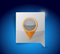 Message bubble and locator pointer illustration Royalty Free Stock Images