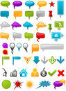 Message Containers and map pointers Stock Photo