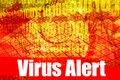 Message d'avertissement alerte de virus Photos stock