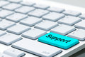 Message on keyboard enter key, for online support concepts. Royalty Free Stock Photo