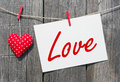 Message of love Royalty Free Stock Photography
