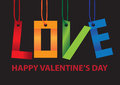 Message of love hanging in the air best for valentine s day vector illustration Royalty Free Stock Photos