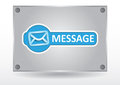 Message pane Royalty Free Stock Image