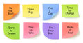Messages on Adhesive Note Papers Royalty Free Stock Photos
